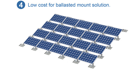 Aluminum ballasted mounting system
